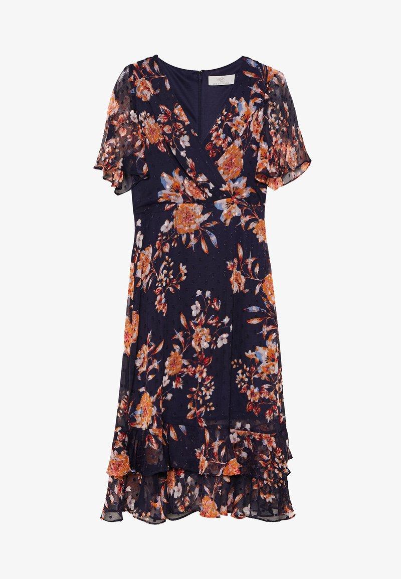 Wallis Petite - FLORAL DOBBY MIDI DRESS - Day dress - ink
