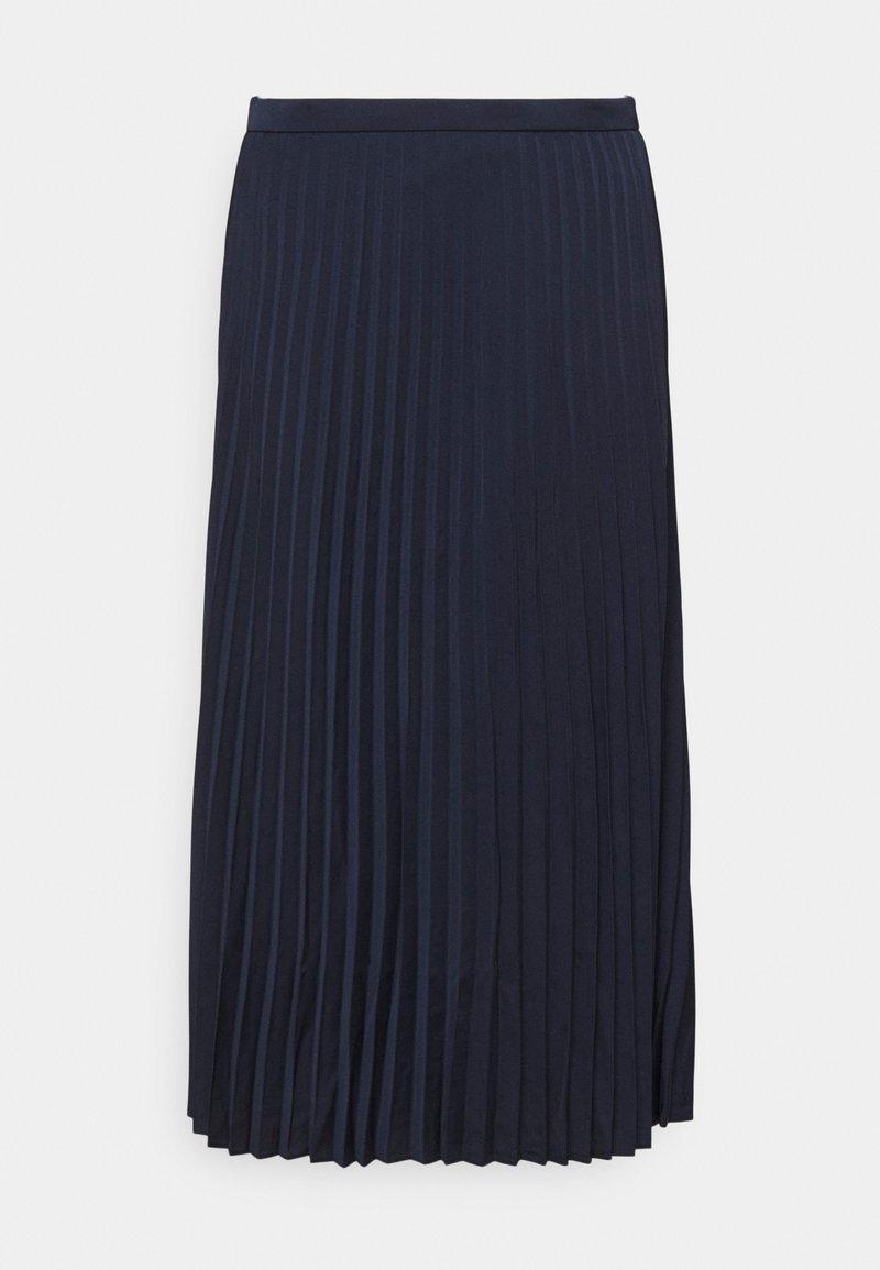 J.CREW - WENDY SKIRT SOLID - Plisovaná sukně - navy