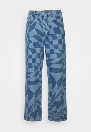 MAN X CURLYFRYSFEED WARPED CHECKERBOARD - Jeans relaxed fit - blue