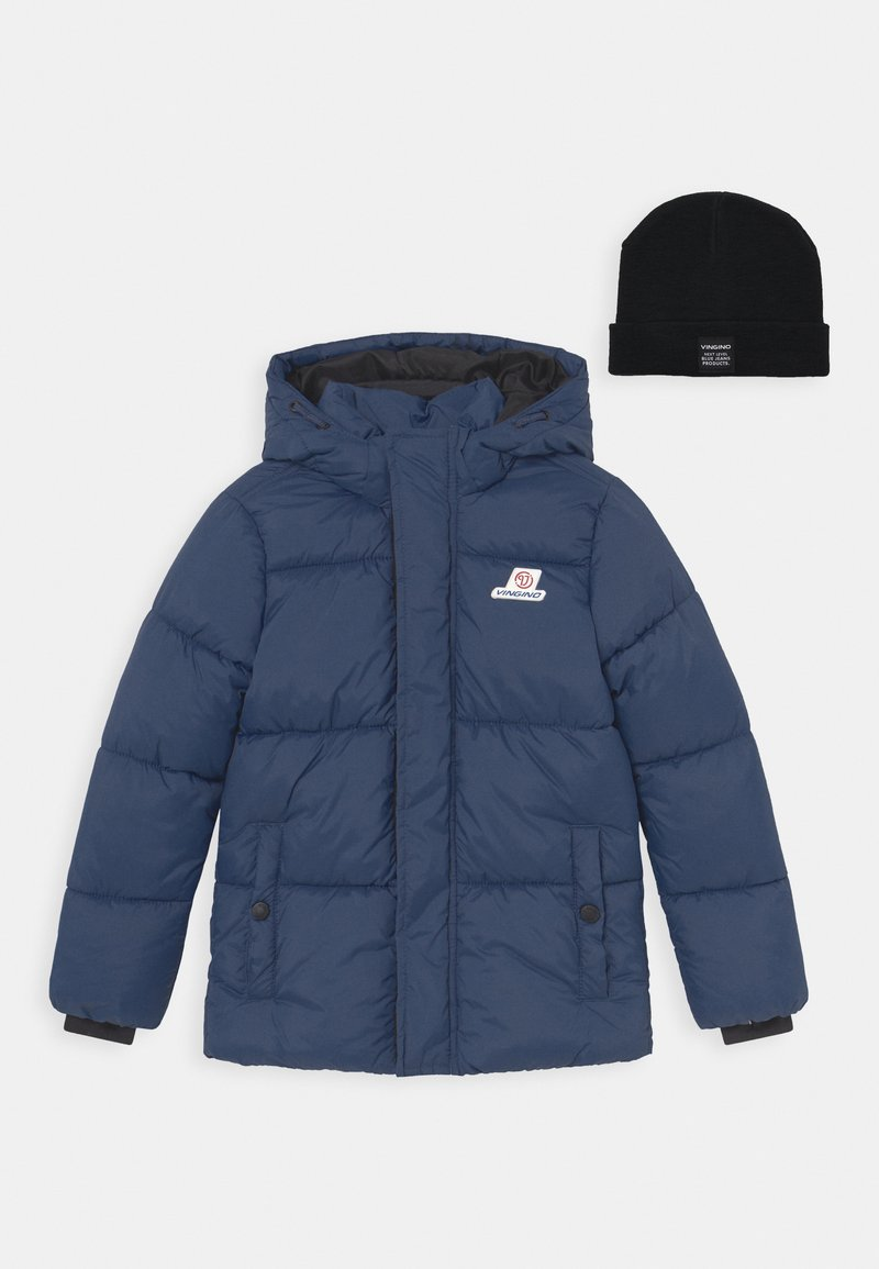 Vingino - TIAN SET - Winter jacket - navy blue/deep black