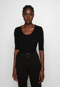 Selected Femme - SLFMARGE DEEP O-NECK - Cardigan - black - 0