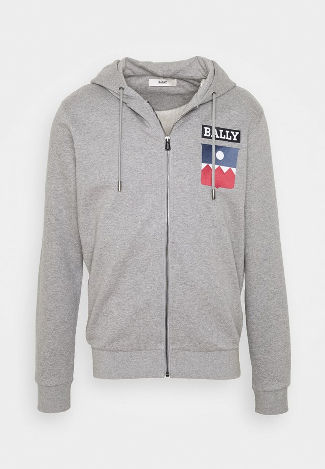 veste en sweat zippée - grey melange