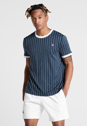 TREY - Camiseta estampada - peacoat blue/white
