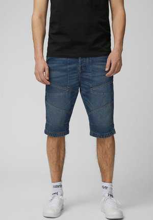 KLASSISCHE - Short en jean - dark blue denim