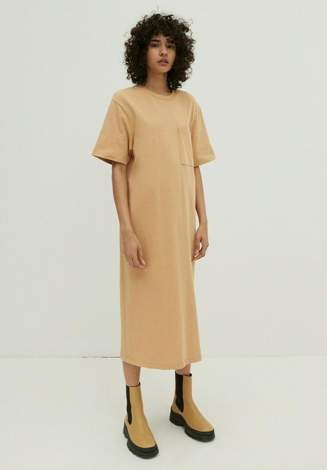 Jersey dress - mokka