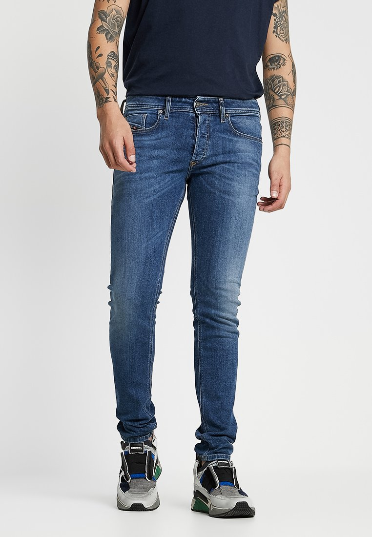 Diesel - SLEENKER - Jeans Skinny Fit - dark-blue denim