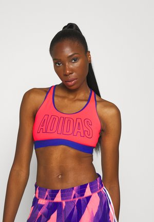 DON'T REST ALPHASKIN BRA - Sport-bh met medium support - signal pink/royal blue