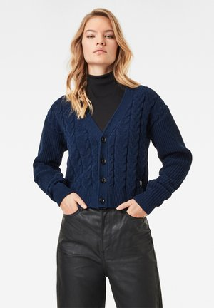 CABLE  - Cardigan - sartho blue