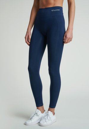 SEAMLESS HIGH WAIST  - Leggings - black iris