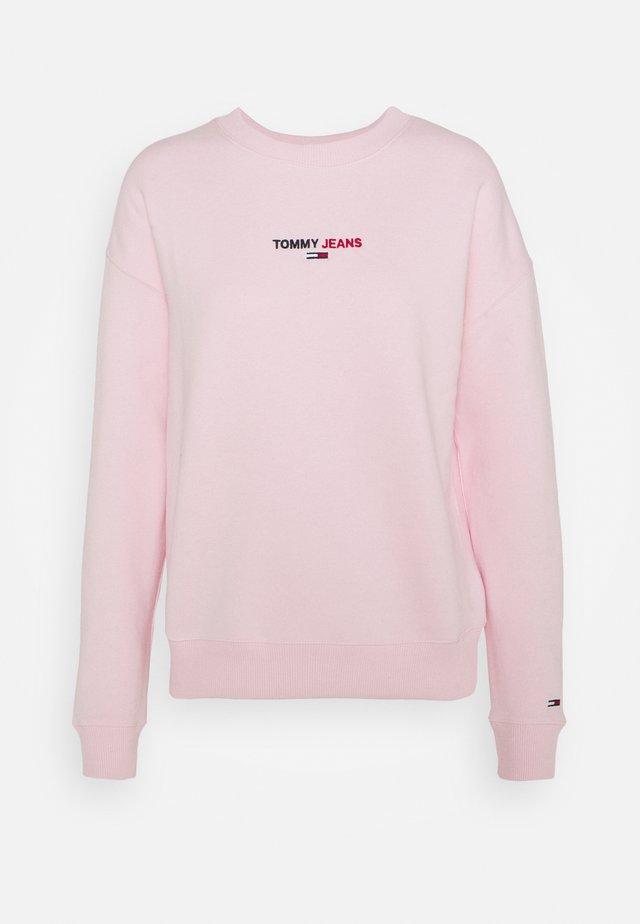 LINEAR CREW NECK - Bluza - romantic pink