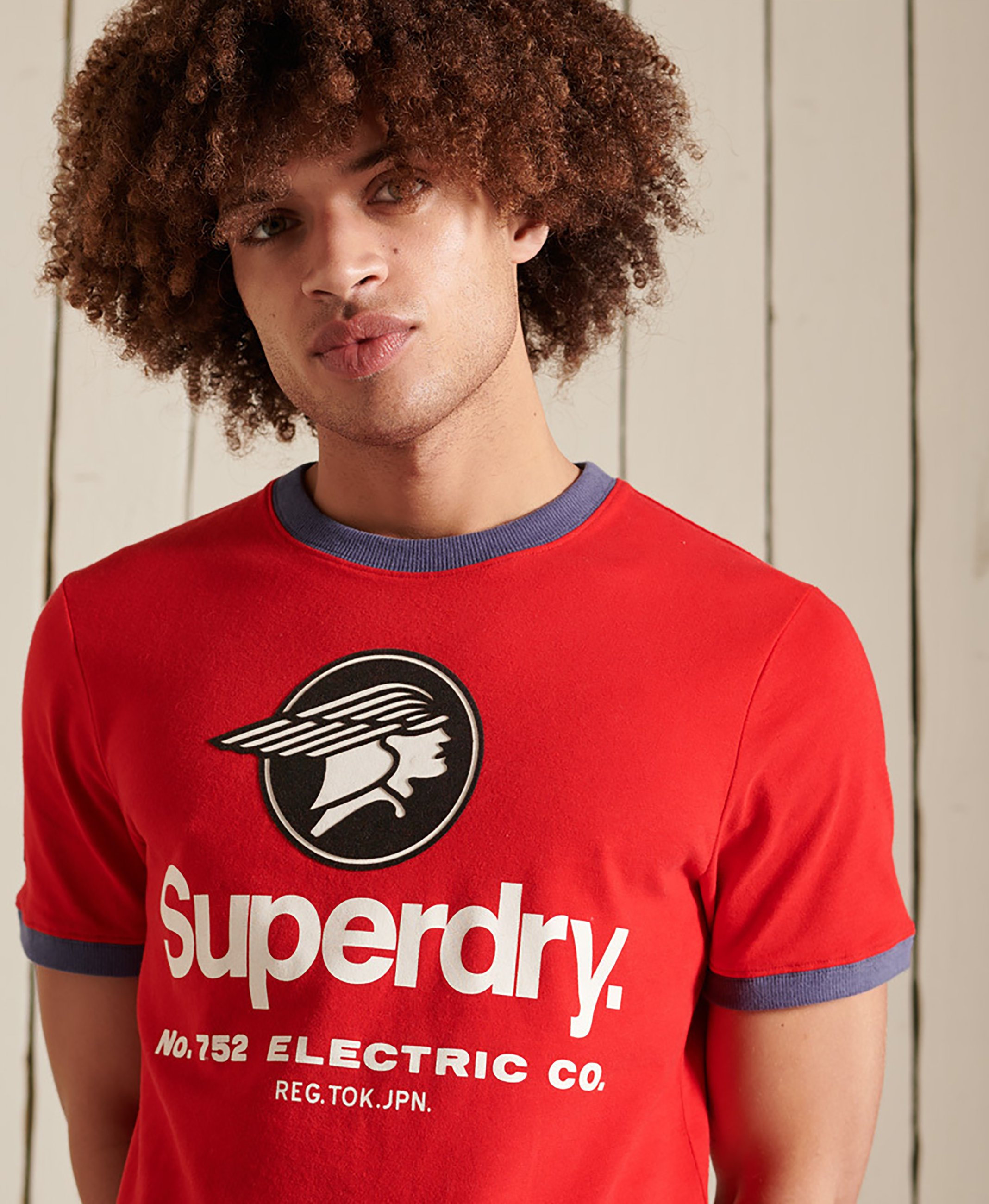 Homme CORE LOGO AMERICAN CLASSIC RINGER - T-shirt imprimé