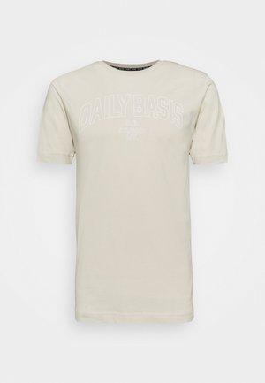 DAILY COLLEGE TEE UNISEX - Print T-shirt - cream