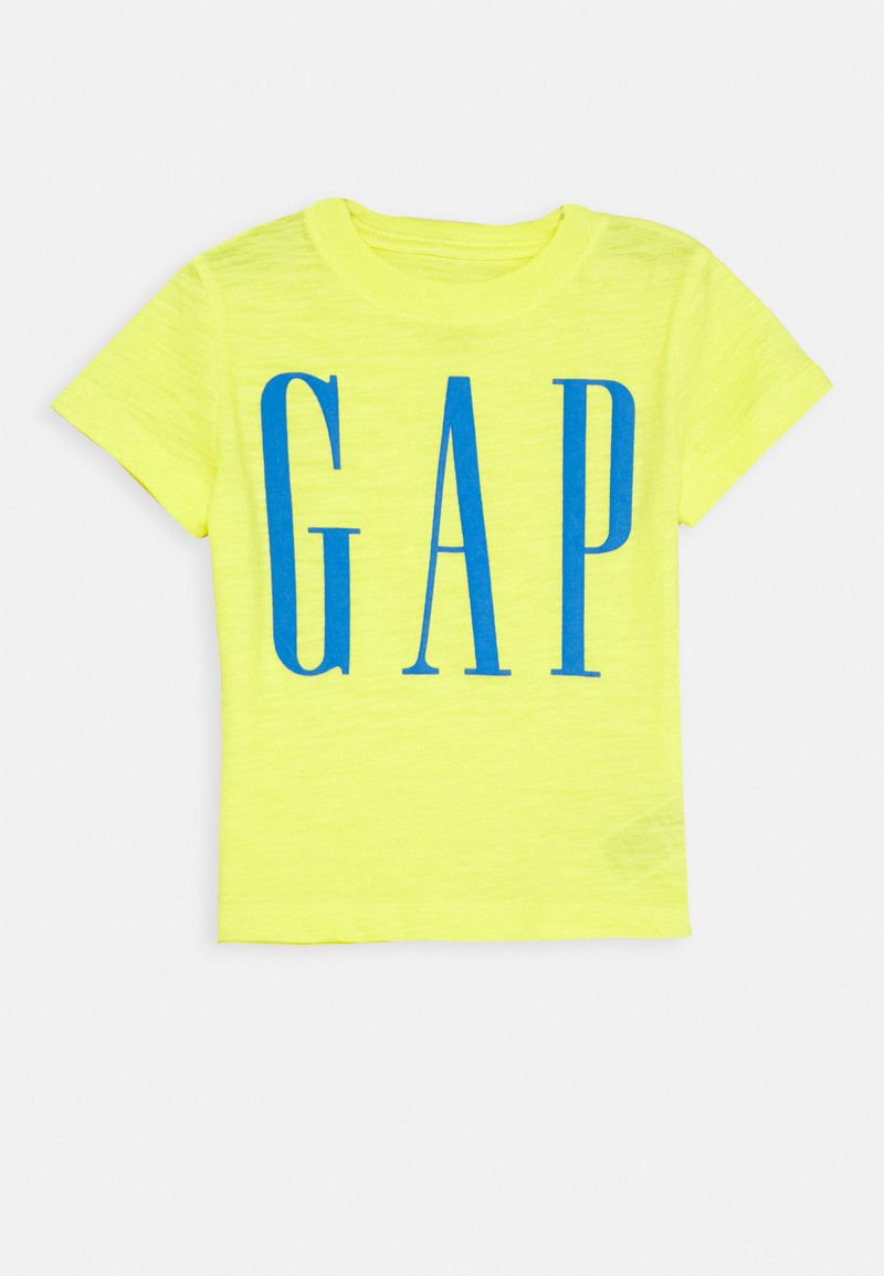 GAP - TODDLER BOY LOGOMANIA TEE - Print T-shirt - vibrating yellow
