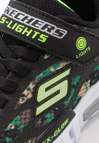 Skechers - FLEX-GLOW - Trainers - black/lime - 5