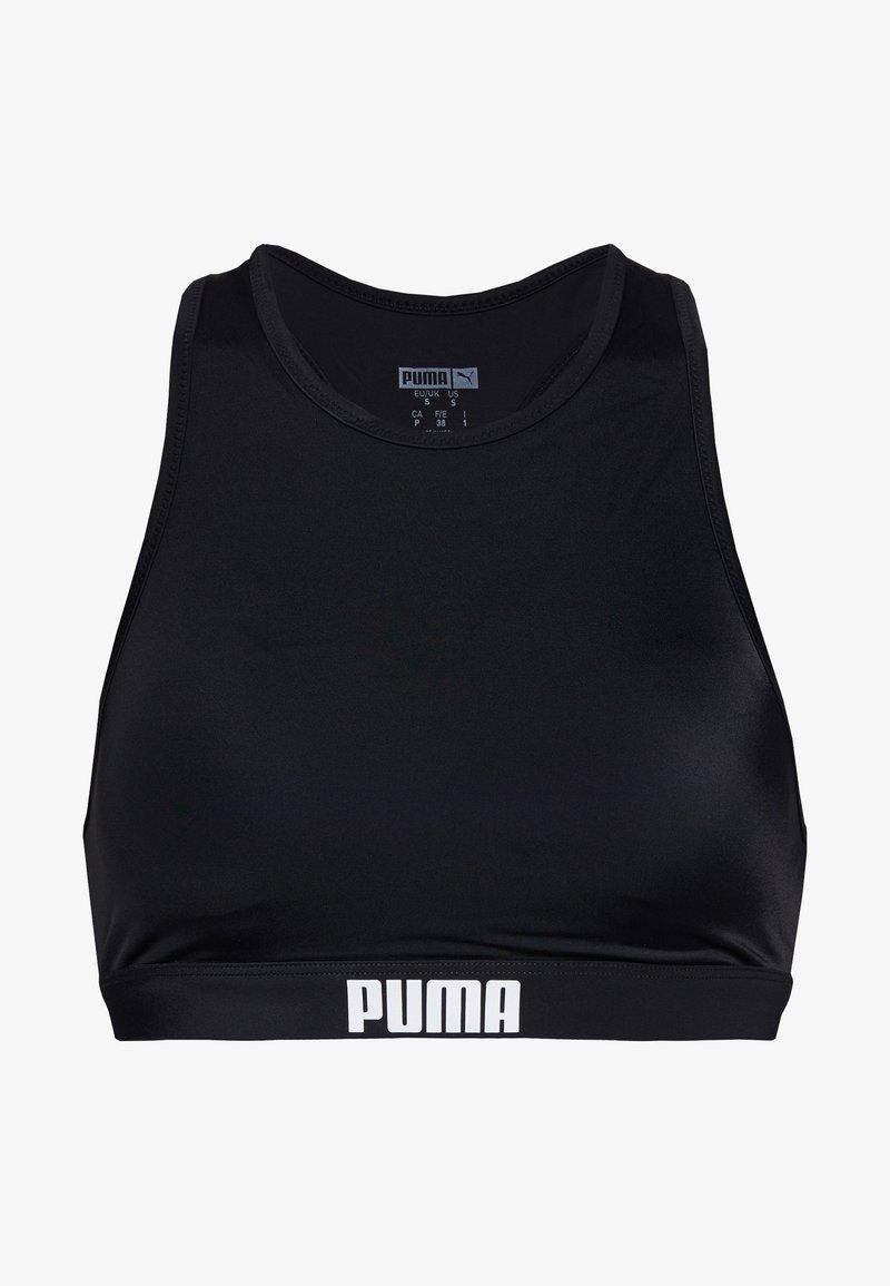 Puma - SWIM WOMEN RACERBACK - Bikinitop - black