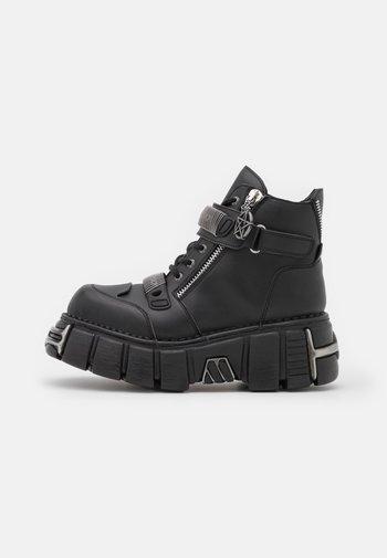 UNISEX - Snørestøvletter - black