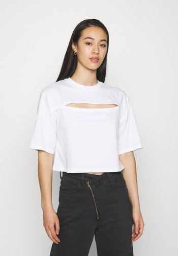Print T-shirt - white light
