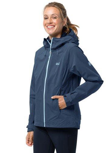 HIGHEST PEAK - Waterproof jacket - dark indigo
