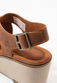 Timberland - KORALYN CROSS BAND - High heeled sandals - rust - 5