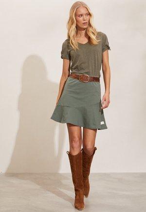 SWEEP AWAY - A-line skirt - cargo green