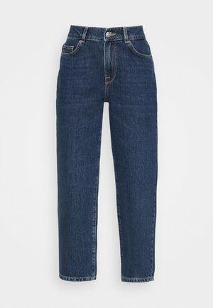 SLFLYDA CROPPE INKY - Jeans relaxed fit - medium blue denim