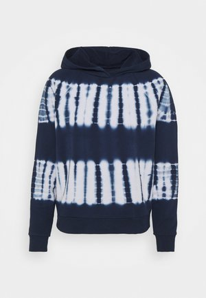 BACK PACK TIE DYE HOODIE RECYCLED SOFT TOUCH - Sweatshirt - bengali indigo