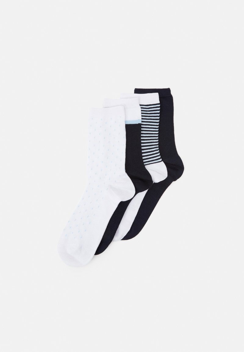 DIM - FASHION CREW SOCKS 4 PACK - Socks - blue/white