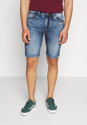 SCRATCHES - Shorts vaqueros - denim middle blue