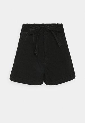 MOM  - Denim shorts - onyx black