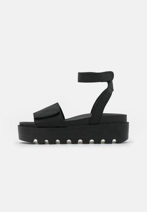 LANARK - Sandalen met plateauzool - black
