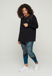 Active by Zizzi - MIT PRINTDETAILS - Long sleeved top - black - 1
