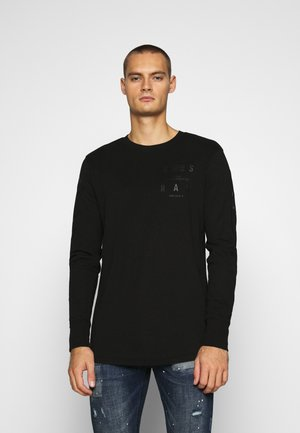 LOGO GRAPHIC  - Long sleeved top - black