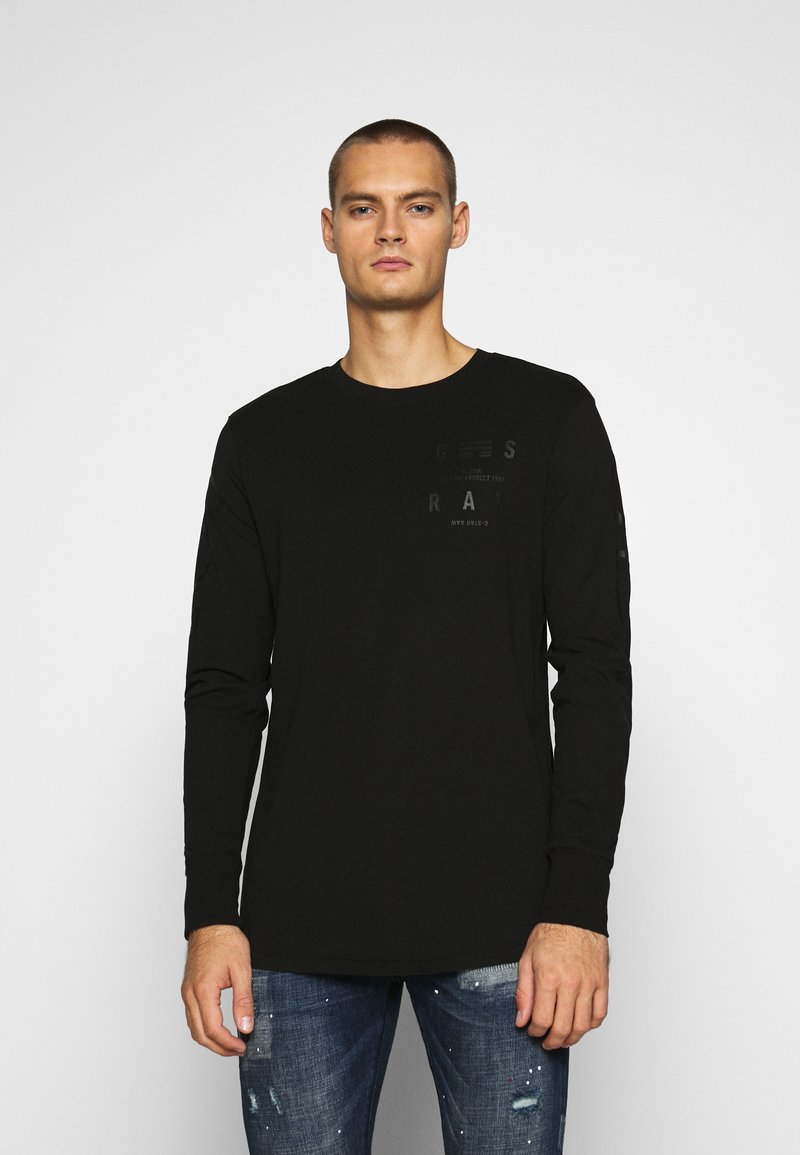 G-Star - LOGO GRAPHIC  - Long sleeved top - black