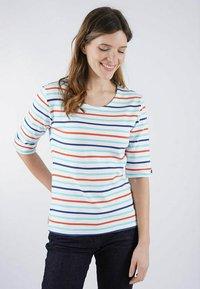 Armor lux - Print T-shirt - blanc/rivage/orange henné/dunkermarine - 1