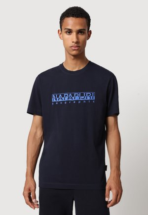 SERBER PRINT - T-shirt print - blu marine