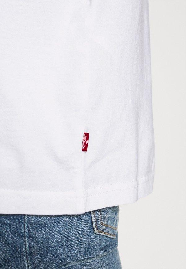 Levi's® RELAXED FIT TEE UNISEX - T-shirt z nadrukiem - white/biały Odzież Męska OQEN