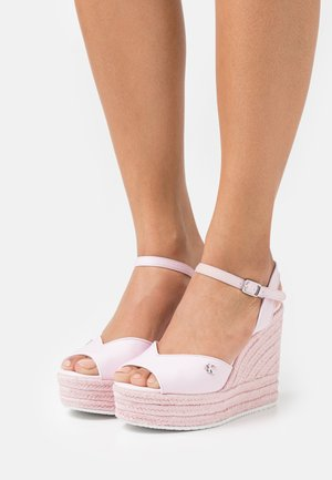 WEDGE ANKLE STRAP  - Platform sandals - pearly pink