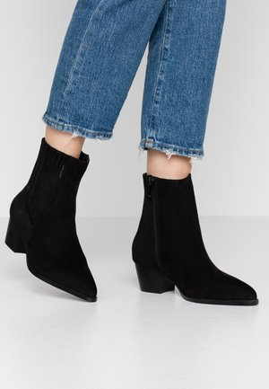 POINTED WESTERN  - Cowboy/biker ankle boot - black