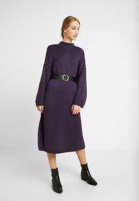 Monki - MALVA DRESS - Neulemekko - lilac purple dark unique - 1