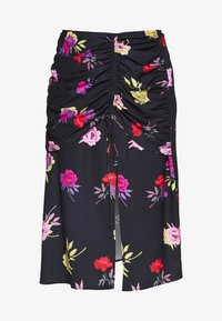 Lost Ink Plus - RUCHED DETAIL PRINTED MIDI SKIRT - A-linjainen hame - multi - 3