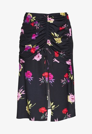 RUCHED DETAIL PRINTED MIDI SKIRT - A-line skirt - multi