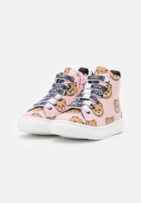 MOSCHINO - High-top trainers - light pink - 1