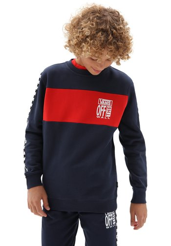 BY SLICE CREW - Jumper - dress blues/high risk red