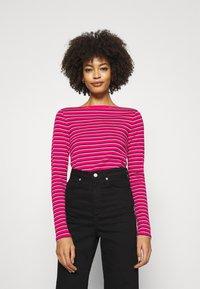 GAP - BATEAU - Long sleeved top - pink stripe - 0