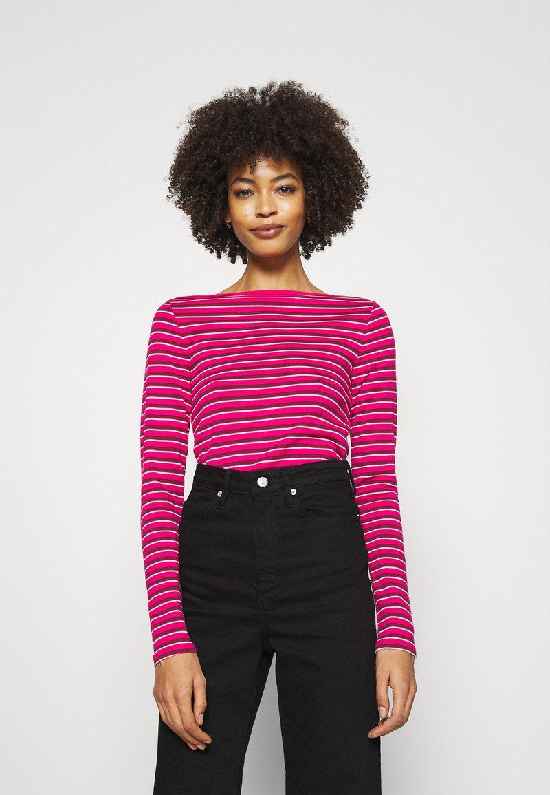 GAP - BATEAU - Maglietta a manica lunga - pink stripe