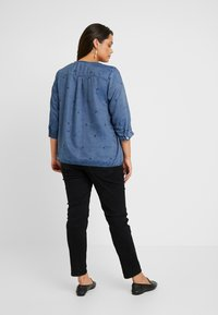 Ciso - EMBROIDERED BLOUSE ELASTICATED HEM - Bluse - denim blue - 2
