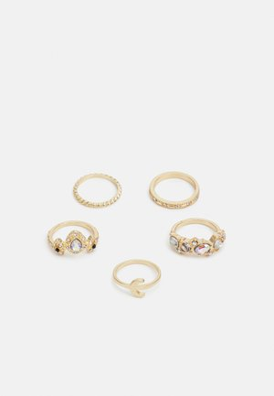 PCPRIMPULA 5 PACK - Ring - gold-coloured/clear