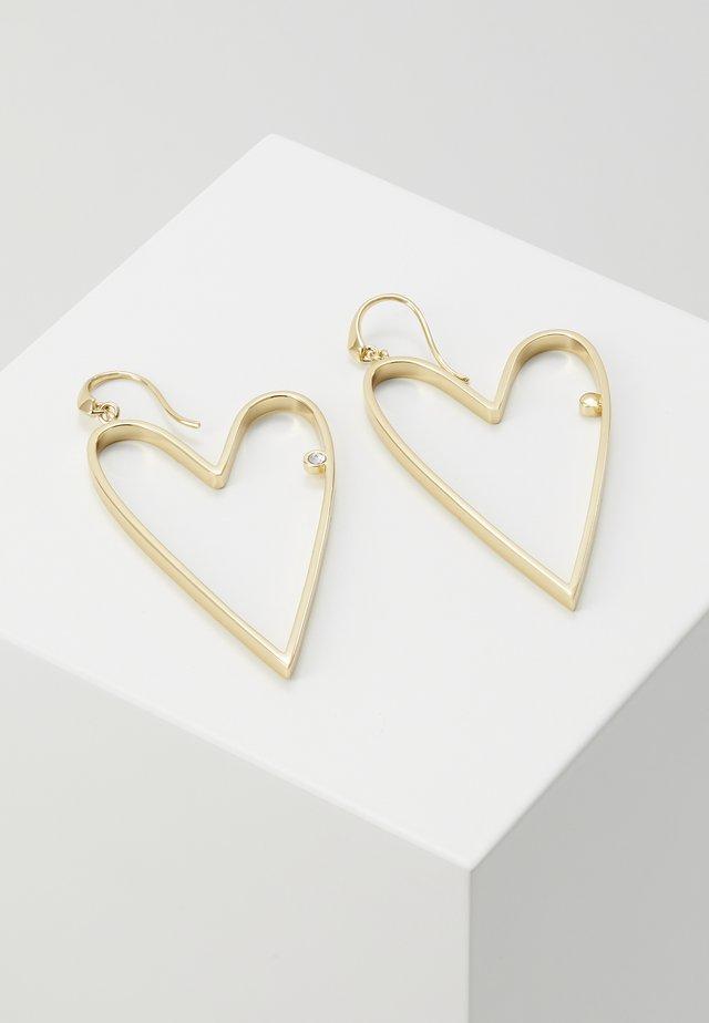 OPEN HEART LARGE - Earrings - gold-coloured