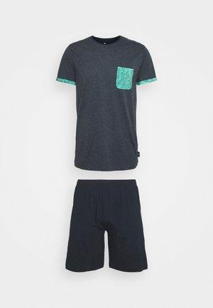 SHORTY - Pyžamo - blue dark melange