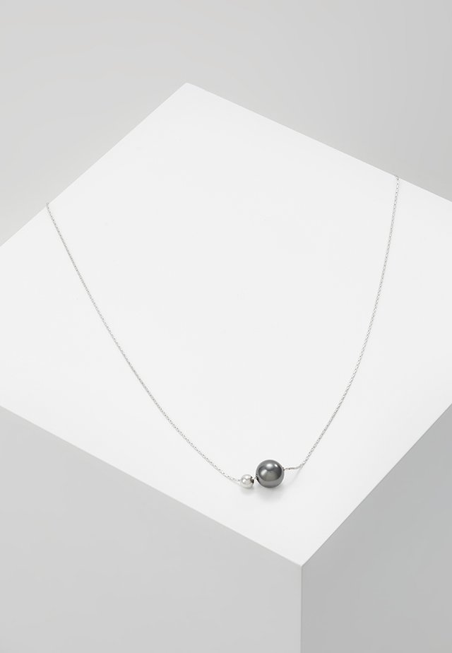 Necklace - silver-coloured/black
